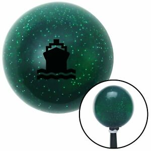 Black Cruise Ship Green Metal Flake Shift Knob With 16mm X 1 5 Insert Nascar