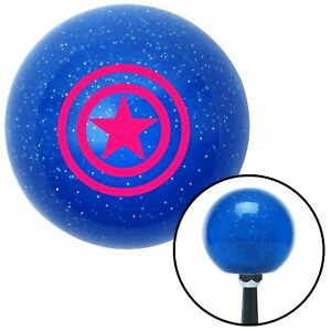 Pink Star Inside Circles Blue Metal Flake Shift Knob Wrecker Parts Classic 426
