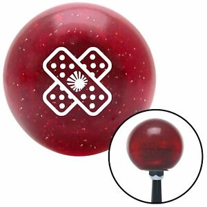 White Jdm Band aid Red Metal Flake Shift Knob With 16mm X 1 5 Insert Model A