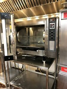Used Bki Countertop Chicken Rotisserie Oven Model Dr 34 Single Stack With Stand