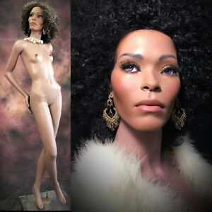 Greneker Mannequin African American Black Female Full Realistic Glass Eyes Vtg