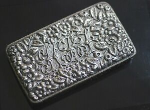 Fabulous Sterling Bailey Banks Biddle Repousse Cigar Box By Dominick Half