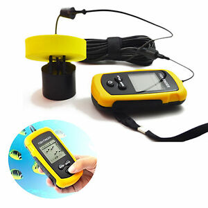 Hot 100M LCD Fish Finder Alarm Sonar Depth Sensor Portable Fishfinder Transducer