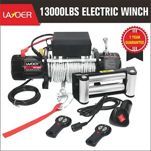 Layoer 13000 Lb Load Capacity Electirc Winch Steel Cable 2 Wireless Remote