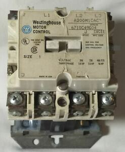 Westinghouse Model J Size 1 Motor Control A200m1cac