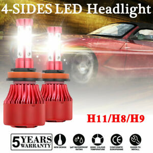 4 Sides H11 H8 H9 Led Headlight Kits 2000w 300000lm High Power 6000k White Bulbs