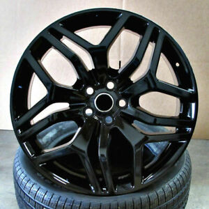 22 Wheels For Range Land Rover Hse Sport Charger Lr3 22x9 5 Gloss Black 5x120
