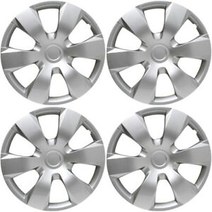 4 Pc Hubcaps Fits 07 11 Toyota Camry 16 Silver Replacement Wheel Skin Cover