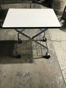 Wesco Industrial Products Foldaway Av Folding Office Cart Capacity 200 Lbs