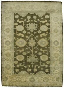 Handmade Floral Design Oushak Chobi 4x6 Indian Rug Oriental Home D Cor Carpet