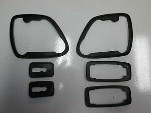 Porsche 944 Door Handle And Mirror Seals 82 To 85 All 6 Pieces New Genuine
