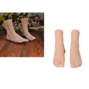 4pcs Lifelike Soft Legs Feet Mannequin Shoes Display Model W Nails glue