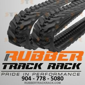 set Of 2 Excavator Rubber Track Size 230x96x34 For Takeuchi Tb016