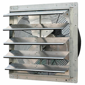 Iliving Ilg8sf20v 20 Inch Variable Speed Wall Mounted Steel Shutter Exhaust Fan