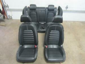 09 16 Volkswagen Vw Cc Front Rear Back Seat Leather Black Set Seats Oem Factory