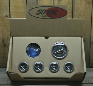 So Cal Speed Shop 5 Gauge Set 140 Mph Speedometer Hot Rod Rat Street Vtg Speedo