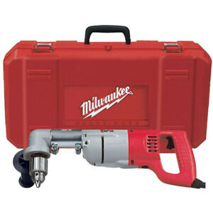 Milwaukee 1 2 D handle Right Angle Drill With Case 3107 6 Reconditioned