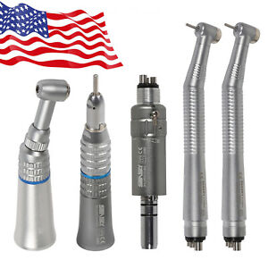 Dental High Low Kit Fast Turbine Slow Contra Angle Straight Motor Fit Nsk 4h Pl