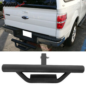 Universal Black Powder Coated Cab Step Bumper Guard W 2inch Receiver 31 5 Inch