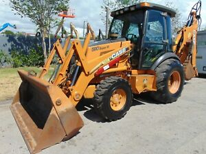2008 Case 590 Super M Series Ii 4x4 cold A c 4 In 1 Clam Bucket Extend a hoe