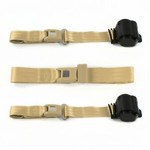 Ford 1932 Model B Standard 2 Pt Tan Retractable Bench Seat Belt Kit 3