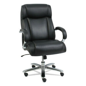 Alera Maxxis Series Big And Tall Leather Chair Black chrome Ms4419 New