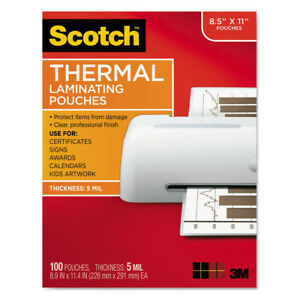 3m Ltr Size Thermal Laminating Pouches 8 1 2 x11 100 pack Tp5854100 New