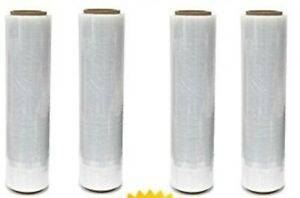 A T 18 X 1500sq Ft 4 Rolls 80 Gauge Pallet Wrap Stretch Film Shrink Hand Wrap