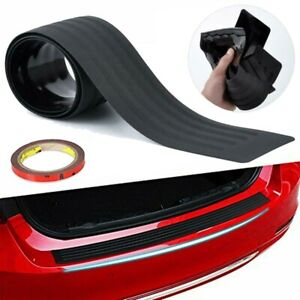 Black Rear Bumper Rubber Pad Kit Guard Sill Plate Trunk Protector Trim Cover