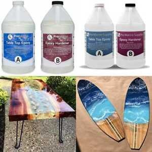 Crystal Clear Bar Table Top Epoxy Resin Coating For Wood Tabletop 1 Gal Kit