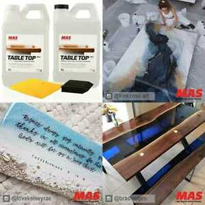 Crystal Clear Epoxy Resin One Gal Kit Mas Table Top Pro Hardener Two Part For