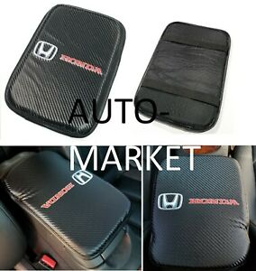 For Jdm Honda Racing Carbon Car Center Console Armrest Cushion Mat Pad Cover X1