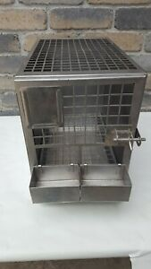 Stainless Steel Small Lab Vet Animal Cage From University Of Michigan