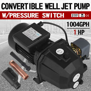 1 Hp Shallow Or Deep Well Jet Pump W Pressure Switch Lawn 110v 1 Inch Discharge