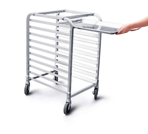 New Star 1 Pc Commercial Kitchen 10 Tier Bun Pan Rack Sheet With Brake Wheel