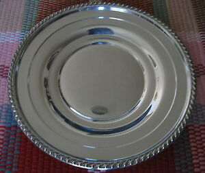 11 5 Sterling Silver Round Stepped Underplate Charger Tray Plate Platter 363g