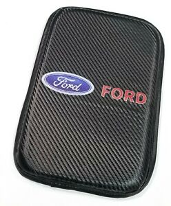 1pcs For Jdm Ford Carbon Car Center Console Armrest Cushion Mat Pad Cover