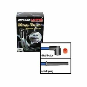 Moroso Spark Plug Wires Mag Tune Spiro Wound 8mm Black Straight Boots Univ 8 Cyl