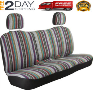 West Coast Auto Universal Baja Saddle Blanket Bench Full Size Seat Cover Fits