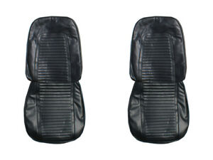 1969 Camaro Standard Front Bucket Rear Seat Covers Upholstery Black Pui