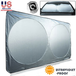 X Large Windshield Sun Shade For Full Size Car Truck Van Foldable Window Visor