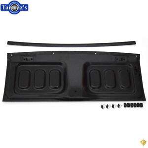 67 68 Mustang Fastback Rear Back Seat To Trunk Access Trap Door Panel Kit