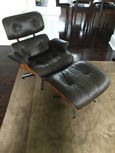 Authentic Herman Miller Eames Lounge Chair Ottoman Rosewood 1975