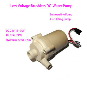 Dc 24v Mini Brushless Water Pump Submersible Pump Circulation Pump Solar Pump Fy