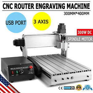New Usb Cnc Router Engraver Engraving Cutter 3 Axis 3040 T screw Desktop Cutting