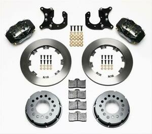 Wilwood Disc Brakes Rear Drag Race Solid Rotors 4 piston Calipers Ford 8 8 Kit