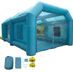 33x16 4x11 5ft Inflatable Spray Booth Car Paint Tent 1100w Dl Blowers