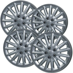 4 Pc Hubcaps Fits 09 14 Toyota Camry 15 Silver Abs Replacement Wheel Rim Cover