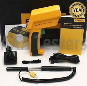 Fluke 574 Non Contact Handheld Precision Infrared Thermometer Ir