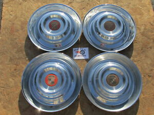 1954 1955 Cadillac Deville Series 62 Fleetwood15 Wheel Covers Hubcaps Set 4
